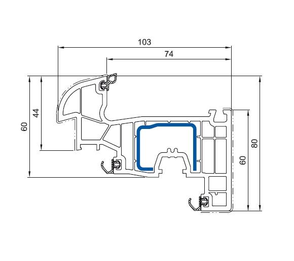 cercevea arcuita de fereastra Salamander bluEvolution 92