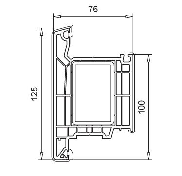 cercevea usa intrare deschidere exterioara Softline 76 MD