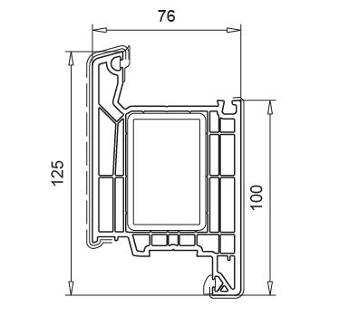 cercevea usa intrare deschidere interioara Softline 76 MD